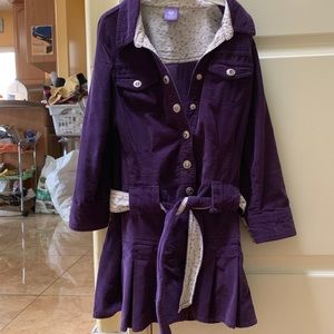 Other - A purple dress with silver buttons and belt